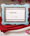 Victorian design frame/place-card holders - Blue/Pink