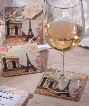 Vintage Paris Themed Coaster Sets