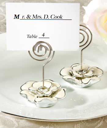 Rose Design Place Card Holder