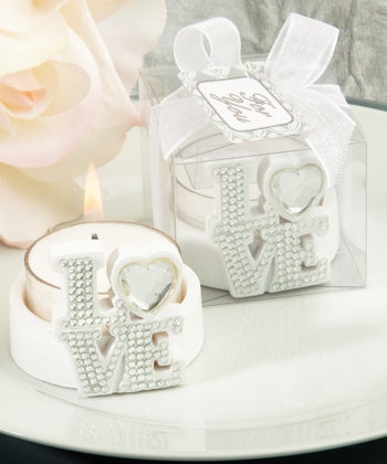 Bling Collection LOVE candle holders