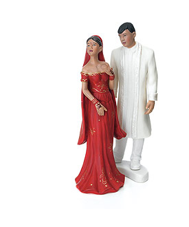 Traditional Indian Bride and Groom Cake Toppers