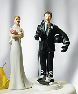 Hockey Groom Mix & Match Cake Topper