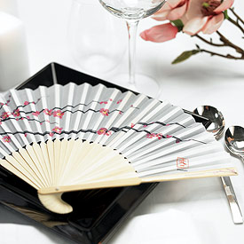 Cherry Blossom Hand Fans - Set of 6