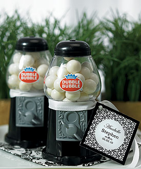 Classic Gumball Machine with Gumballs - Black, Pink, White, Red, Blue