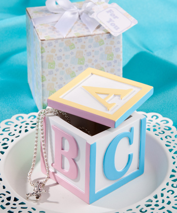 Alphabet block design trinket boxes