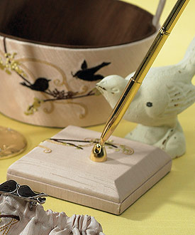 Love Bird Pen with Base