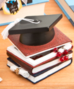 Graduation Hat And Books Trinket Box