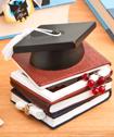 Graduation Hat And Books Trinket Box