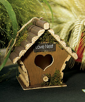 Miniature Wooden Birdhouses (Set of 4)