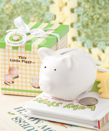 """This Little Piggy"" ceramic bank"