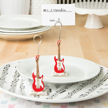 CLASSIC RED ELECTRIC GUITAR PLACE CARD HOLDER OR PHOTO HOLDER FROM FASHIONCRAFT