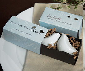 Love Bird Salt Pepper Shakers in Gift Package