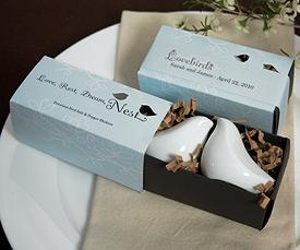 Love Bird Salt Pepper Shakers in Gift Package