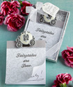 Cinderella's carriage note pad favors