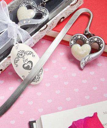 Heart-within-a-heart bookmark