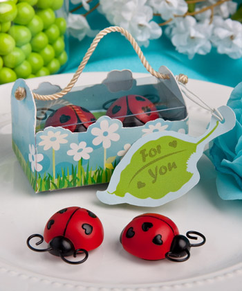 Ladybug magnet favors