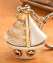 Stunning Vintage Sailboat Key Chain