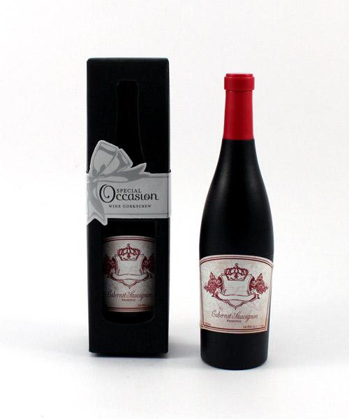 Wine Bottle Shaped Corkscrew in Gift Packaging
