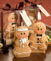 Adorable Gingerbread Bride Groom Candle Favors