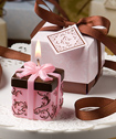 Brown and Pink Gift Box Collection box candle favor-Brown and Pink Gift Box Collection box candle favor