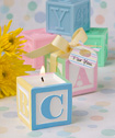 Adorable baby block design scented candle favors