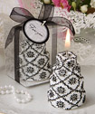 Darling damask design cake candles