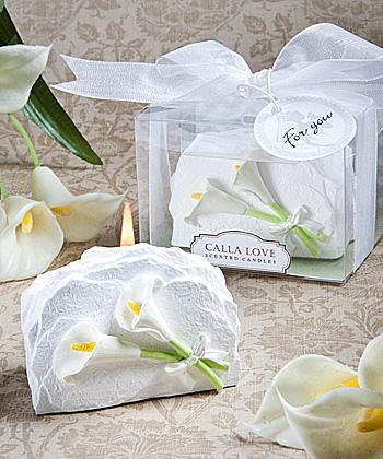 Unique calla lily candle