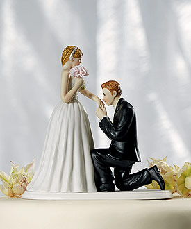 "A ""Cinderella Moment"" Figurine - Wedding Cake Topper"