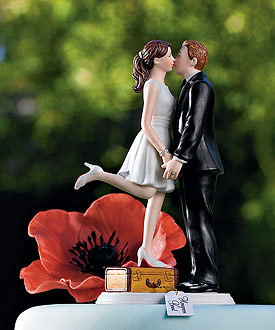 A Kiss and We're Off! Figurine - Wedding Cake Topper