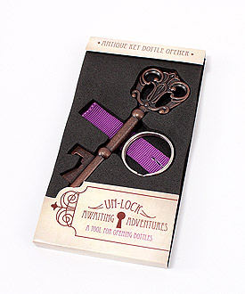 Antique Style Key Bottle Opener in Gift Packaging