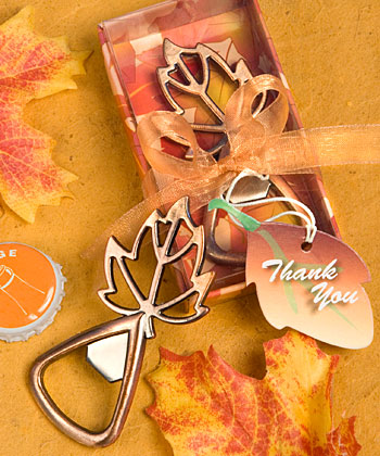 Autumn Magic Collection leaf design bottle openers