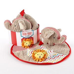 """Big Top Baby"" Three-Piece Baby Gift Set"