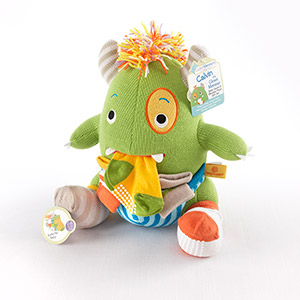 """Calvin the Closet Monster"" Knit Baby Socks and Plush Monster Gift Set"