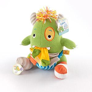 """""""Calvin the Closet Monster"""" Knit Baby Socks and Plush Monster Gift Set"""