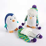 """Ice Caps"" Penguin Plush and Hat for Baby"