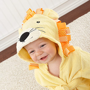 """Big Top Bath Time"" Lion Hooded Spa Robe"