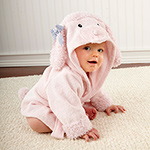 """Pretty in Pink"" Poodle Hooded Spa Robe"