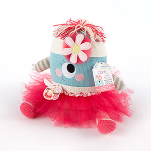 """Clara the Closet Monster"" Baby Bloomers, Headband and Monster Plush Toy Gift Set"