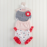 """Belle Bebe Bloomers"" Set of 3 Bloomers for Baby (0-6 months)"
