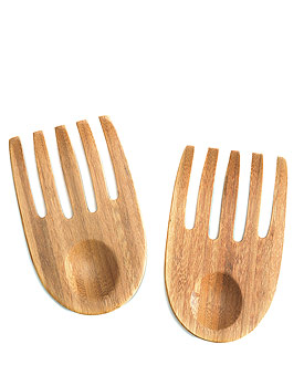 """Hand in Hand"" Bamboo Server Set"