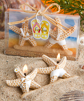 Bathing suit clad starfish candles