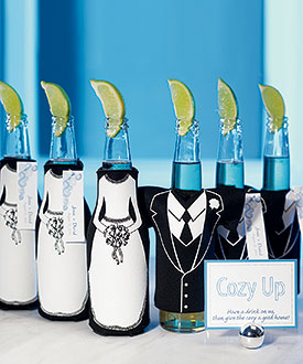 Wedding Party Beer Bottle Holder Favors