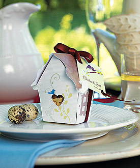 Sweet Bird House Favor Box - Set of 12