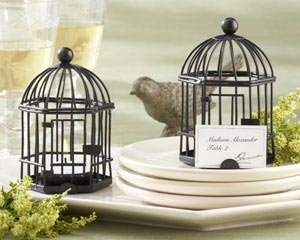 &quot;Love Songs&quot; Birdcage Tea Light/Place Card Holder