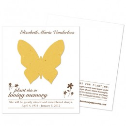 Butterfly Plantable Memorial Cards