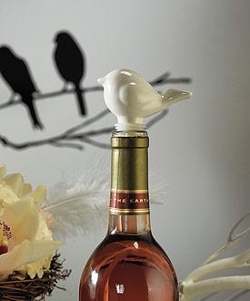 Ceramic Love Bird Bottle Stopper with Gift Packaging
