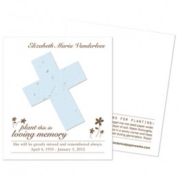 Cross Plantable Memorial Cards