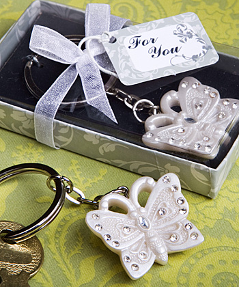Delicate Butterfly Keyrings