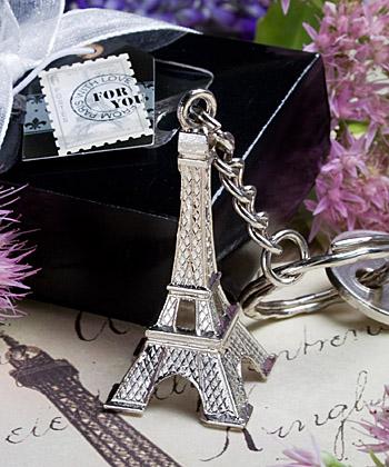 Eiffel Tower key chain favors