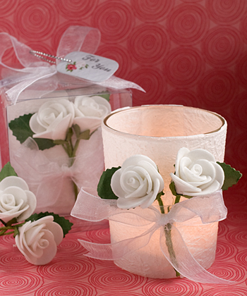 White Rose Candle Favors-White Rose Candle Favors